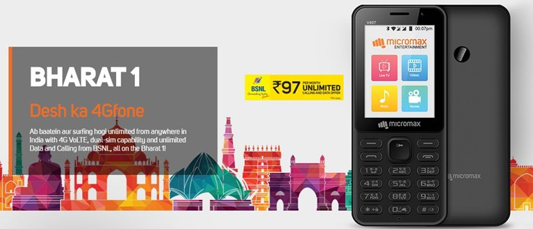 Micromax Bharat 1 Competitor to JioPhone Launched at Rs. 2200 https://t.co/jgazHjB7Rx https://t.co/AIUPVOIONS