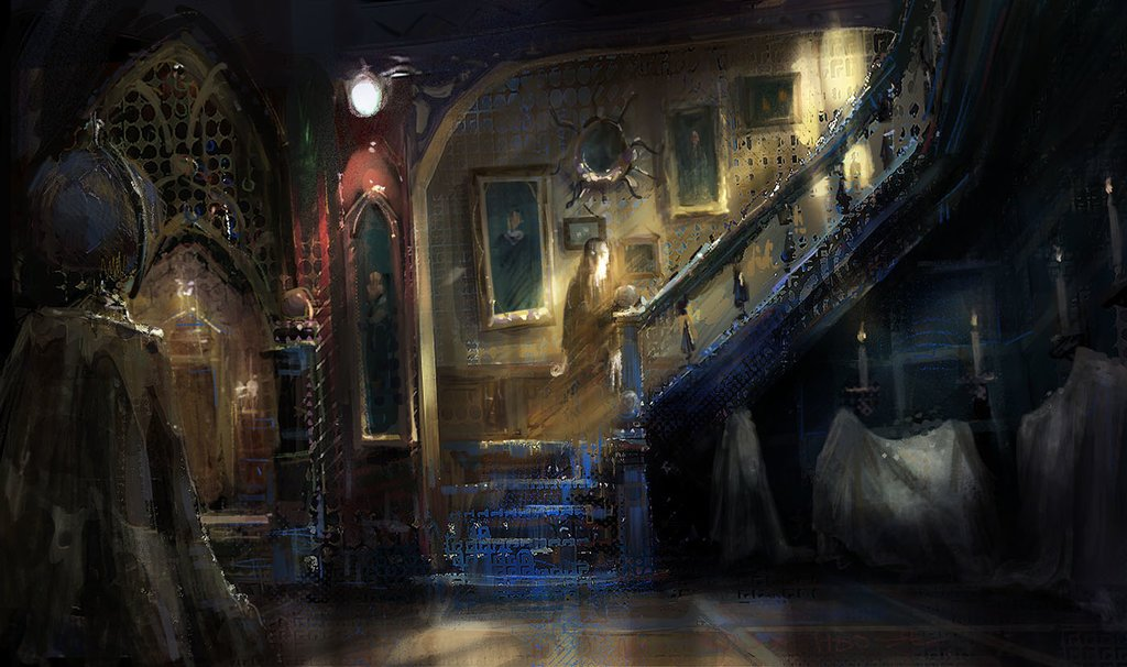 Deviantart On Twitter A Ghost Haunts A Stately Old House