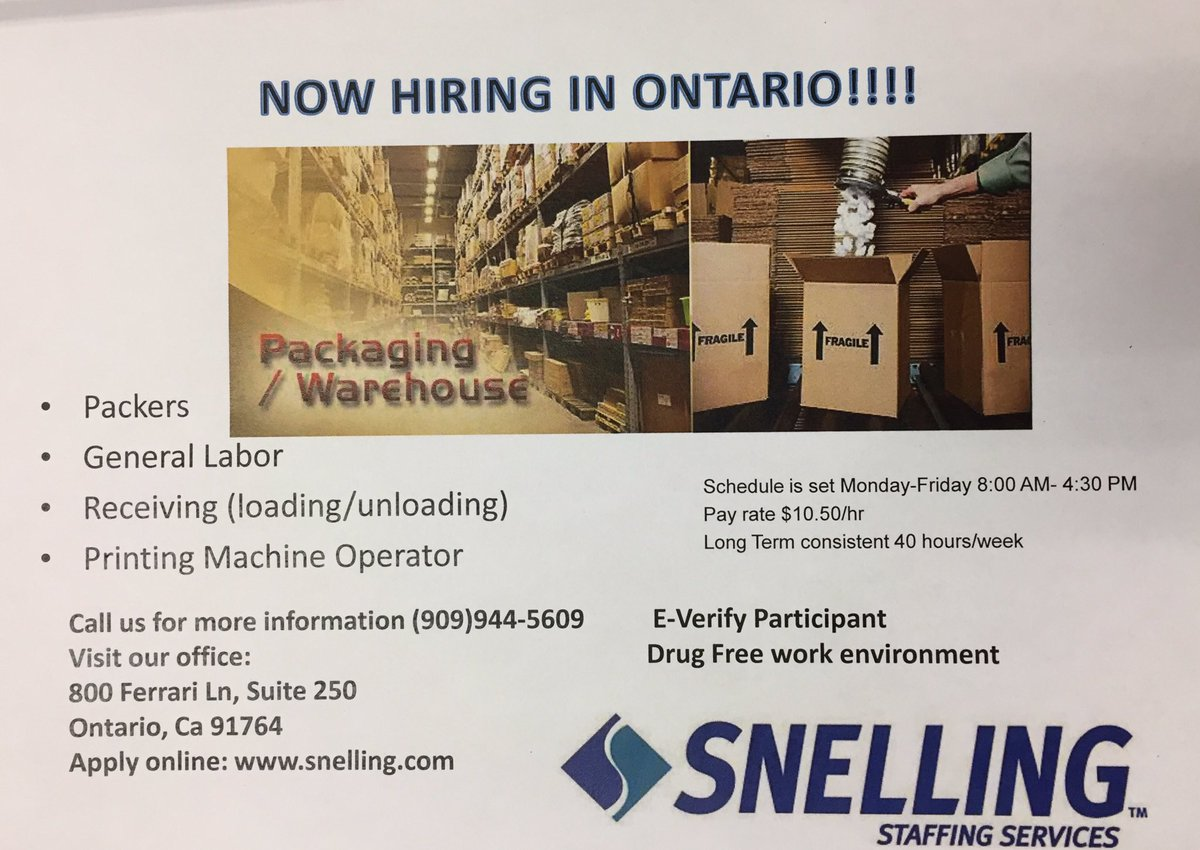 For a job in ontario