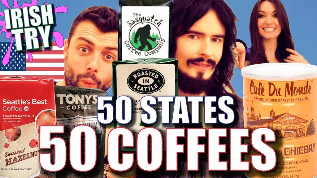 NEW!! - Irish People Try &#39;50 COFFEES&#39; From &#39;50 AMERICAN STATES!! WATCH -  https://www. youtube.com/watch?v=SIszbk N6rkA &nbsp; …  @sharpy0077 #Coffee #USA #Taste #Drinks  <br>http://pic.twitter.com/RmKi5nrizb