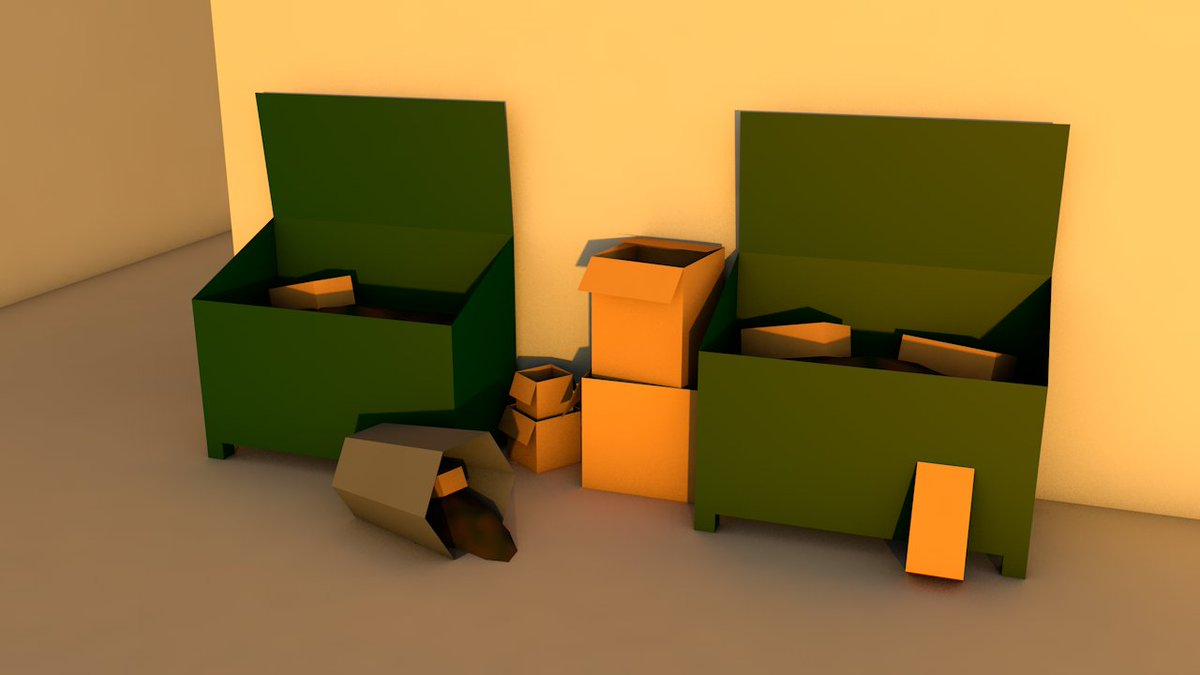 #Junk at a rubbish dump #lowpoly_dailies @LowPolyDaily #lowpoly #cinema4d #c4d<br>http://pic.twitter.com/uxvkHCuctp