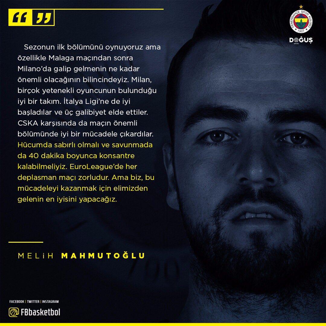 Kaptan @melihmahmutoglu'nun maç önü görüşleri! #NeverEnough #GameON 👇💪...