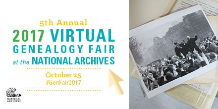 #Genealogy without leaving home - #NationalArchives is hosting a live virtual #GenealogyFair on YouTube, on 10/25!  https:// go.usa.gov/xn3Cz  &nbsp;  <br>http://pic.twitter.com/f5kBhW83ox