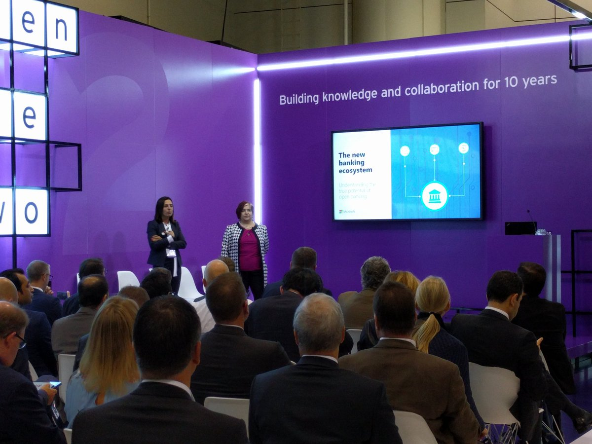 Starting now: #openbanking discussion with Alma Cardenas &amp; Ines Mauricio at #Sibos.<br>http://pic.twitter.com/nnY5PSrrEj