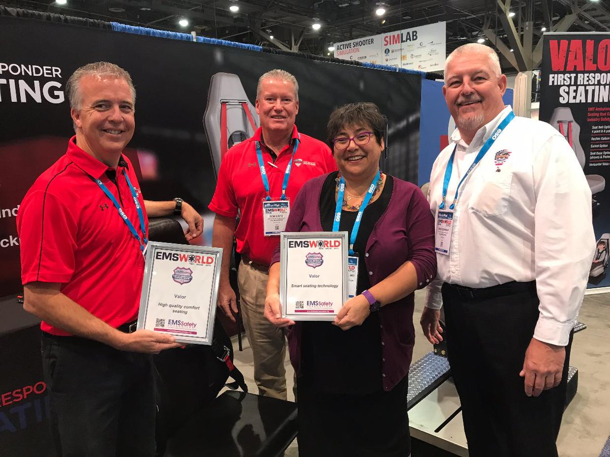 We&#39;re thrilled to receive 2 out of the 12 EMS Safety Awards at #EMSWorldExpo2017! Thank you for this honor! #Ambulance #EMS #Valor<br>http://pic.twitter.com/BbSC3zoygi