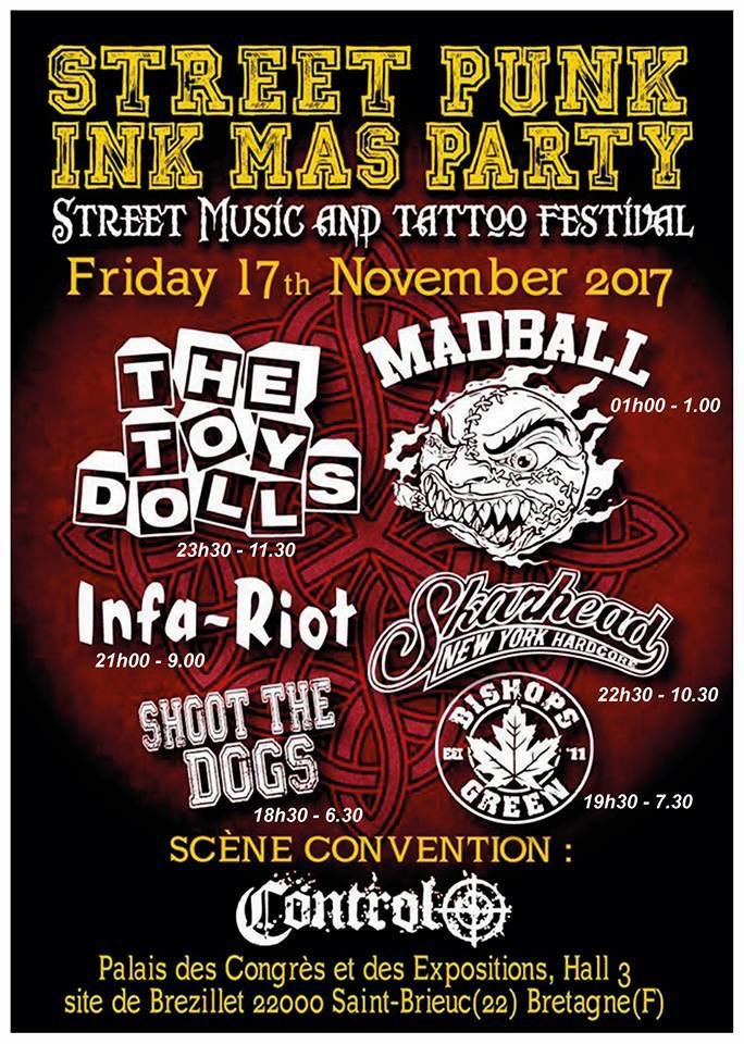 Fantastic lineup for our next European show. Who's coming? @TheToyDolls @TheAdicts @madballNYC @agnosticfront @BOOZE_AND_GLORY