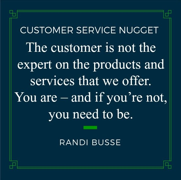 The customer will look to YOU to answer their questions and address their concerns. #custserv <br>http://pic.twitter.com/bk7ZvVHWFR