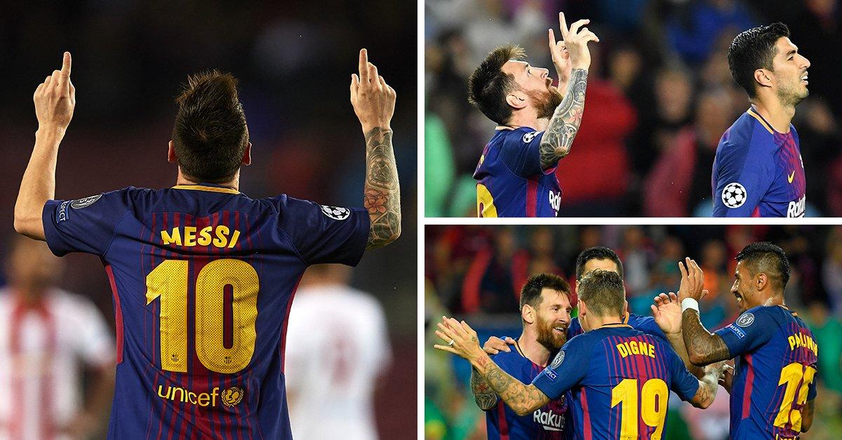 أهداف مباراة برشلونة وأولمبياكوس كاملة