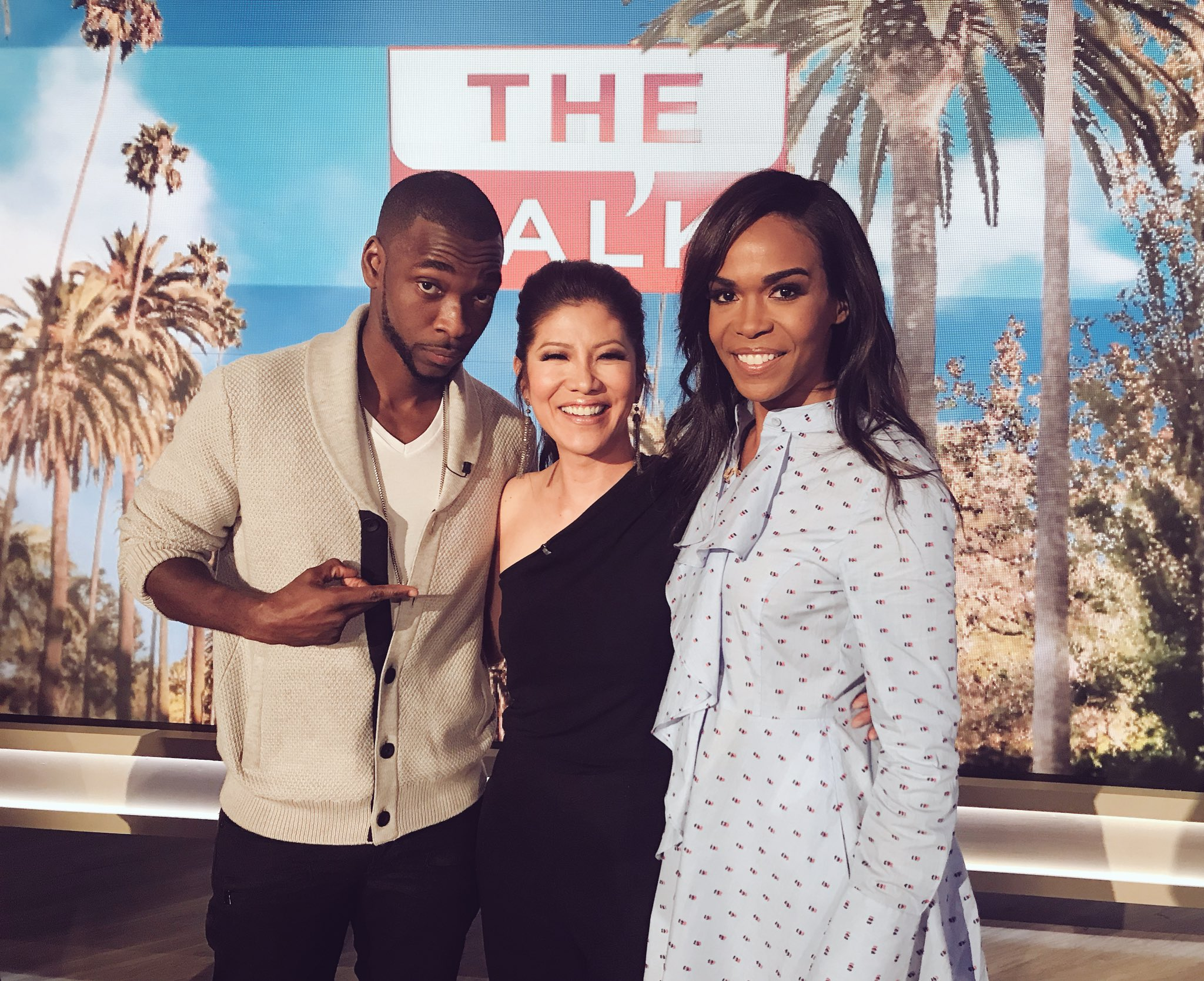 RT @JulieChen: So much fun with @RealMichelleW and @JayPharoah on #TheTalk today! https://t.co/A2aoGP4TNA