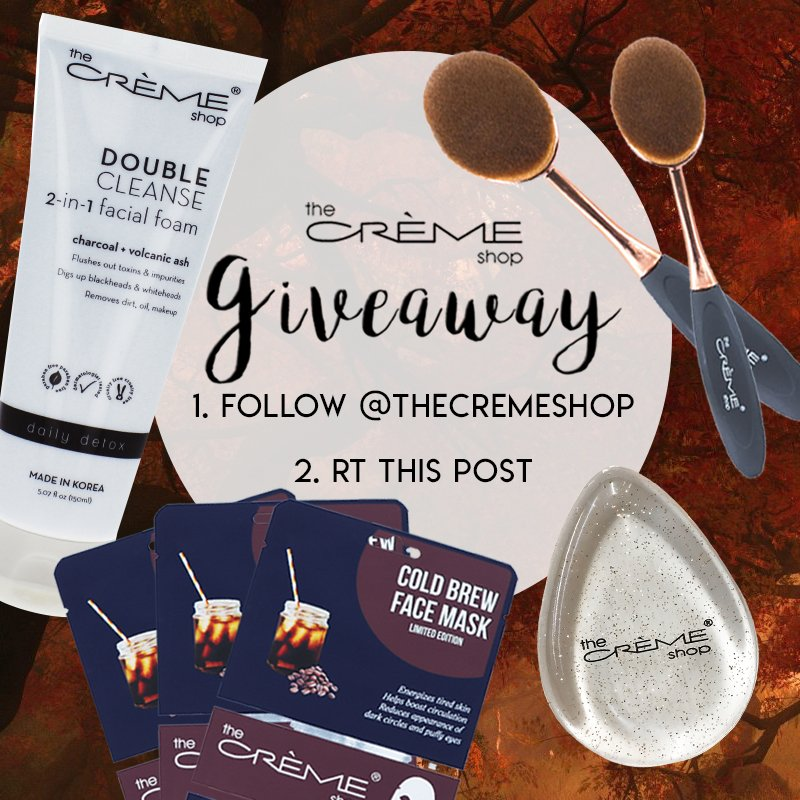 It&#39;s #GIVEAWAY time with some of our essentials! Make sure to follow us &amp; #RT this tweet to win what&#39;s in the photo  https://www. thecremeshop.com / &nbsp;  <br>http://pic.twitter.com/HBrE57Jk4d