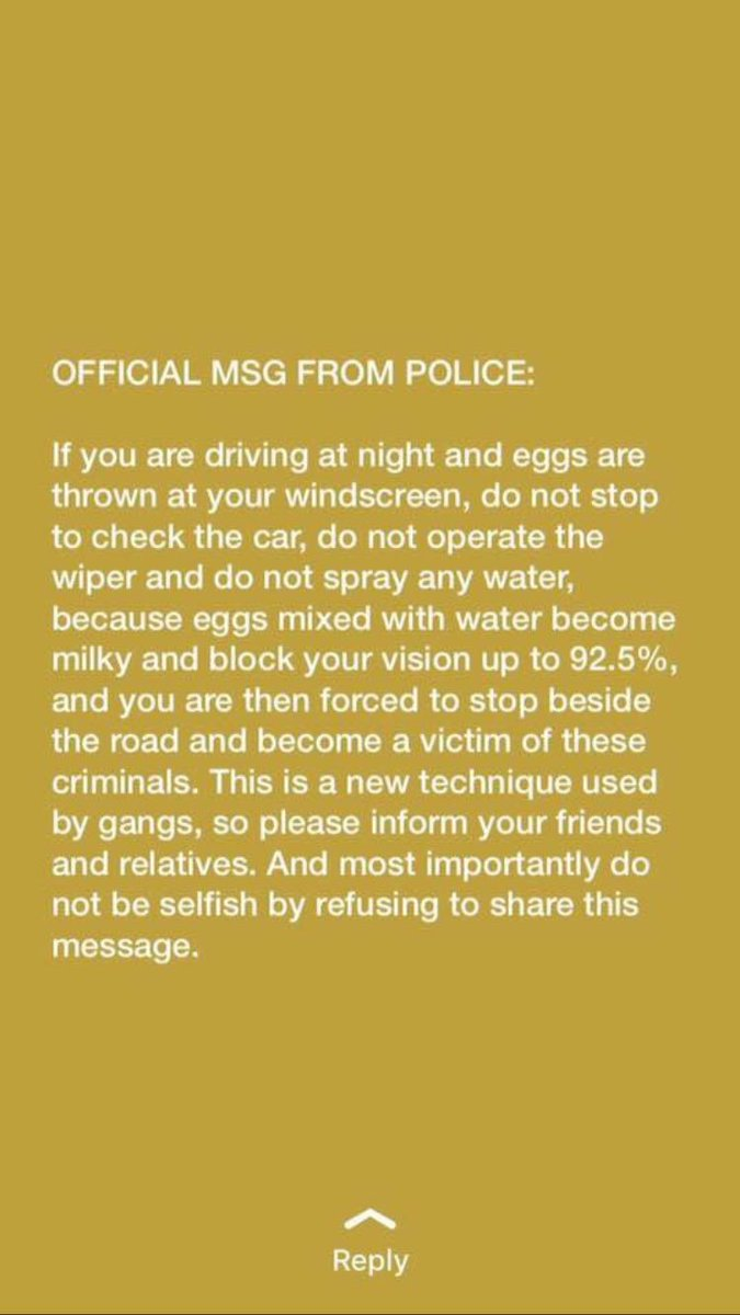 Worth a read if your driving home from somewhere tonight - thanks @metpoliceuk