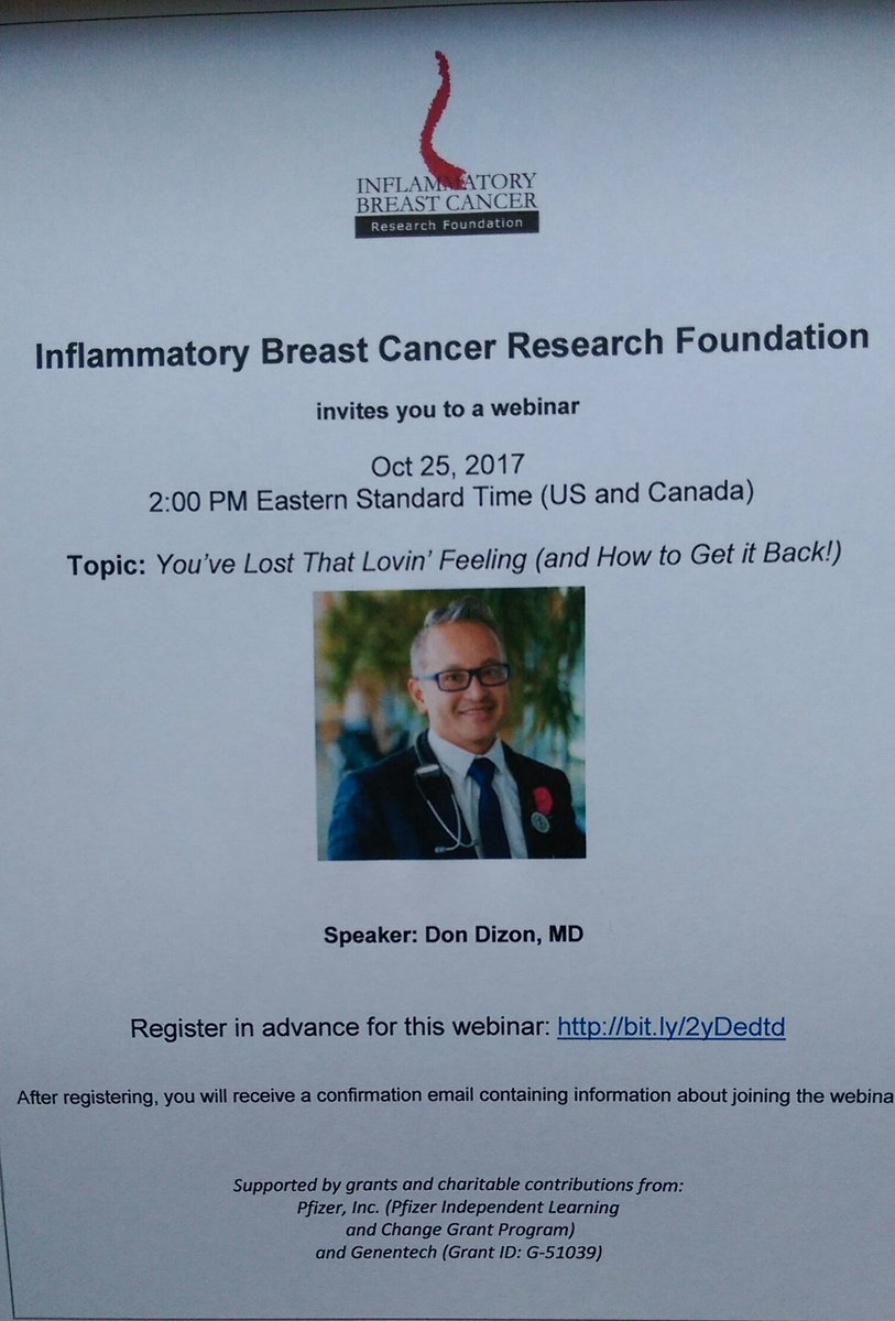 Don&#39;t miss r webinar next week. &quot;You&#39;ve Lost That Lovin Feeling &amp; how to get it back&quot; with @drdonsdizon 10/25, 2pm EDT #bcsm <br>http://pic.twitter.com/fQzv4boBz0