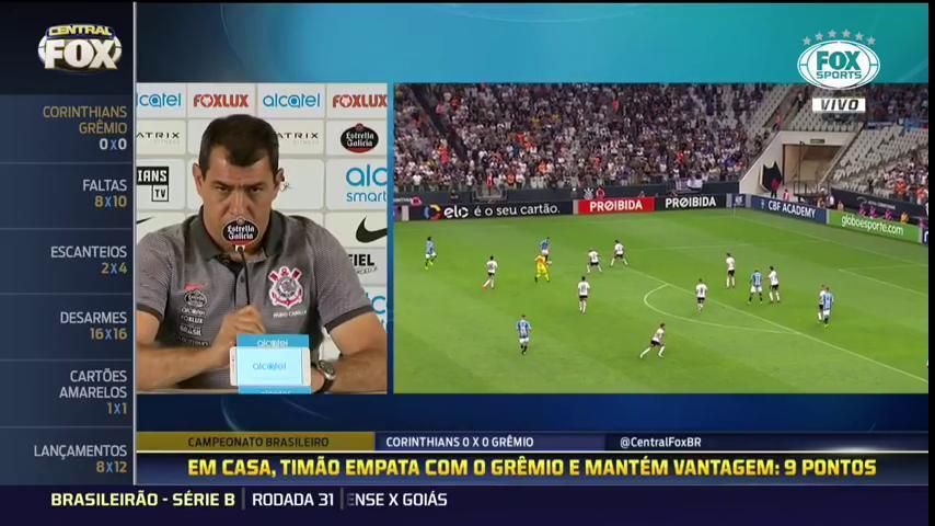 ⚪️⚫️ 'Eu considero isso uma grande mentira', Carille dispara sobre suposta 'falta de qualidade' no Campeonato Brasileiro. #CentralFOXBrasil