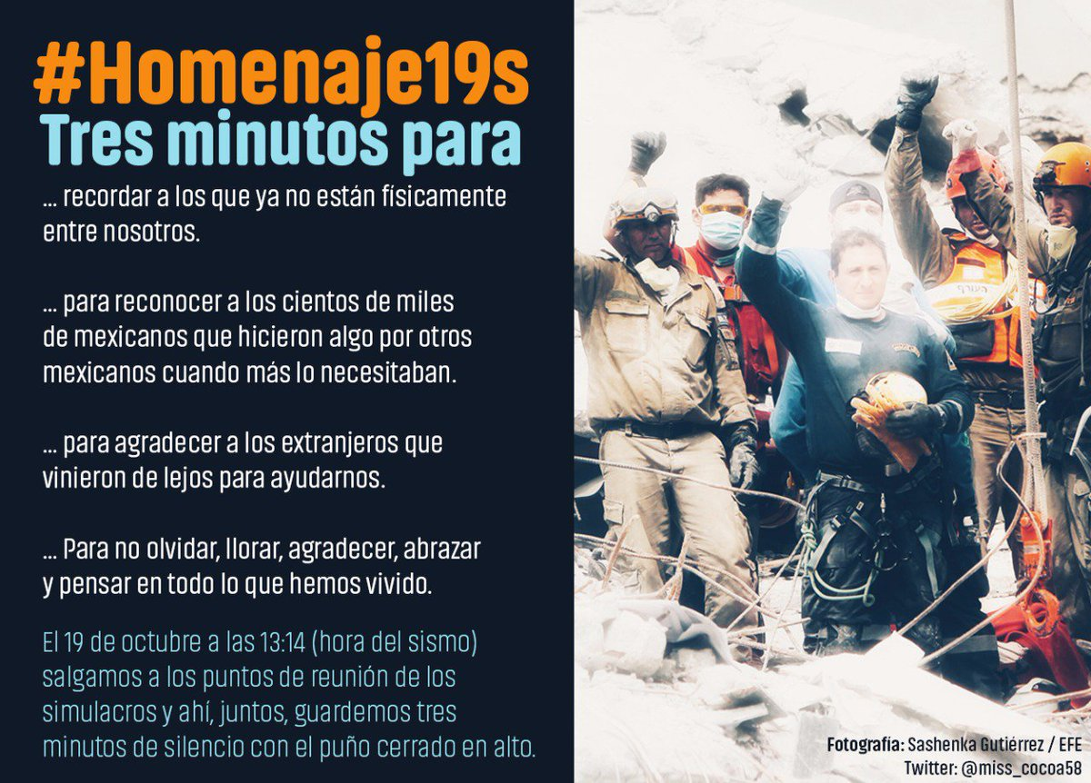 19 de octubre: a un mes del sismo que cambió a los mexicanos   #Homena...