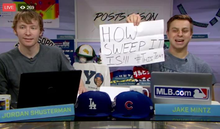 We're watching a sports game with @CespedesBBQ. Join us in the Postsea...