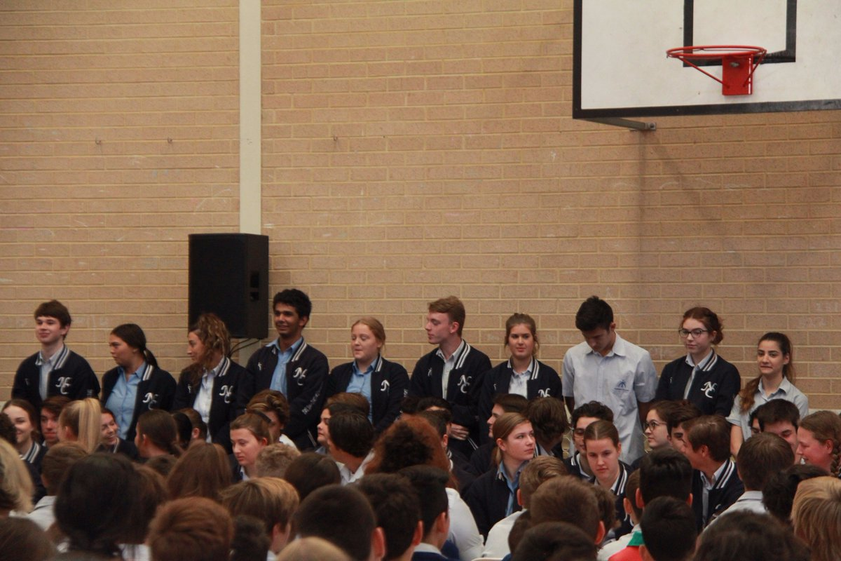 Today Y12 gathered for their final assembly where they were farewelled by the Y7-11s #Classof2017 #Farewell <br>http://pic.twitter.com/ixqxwy1aC5