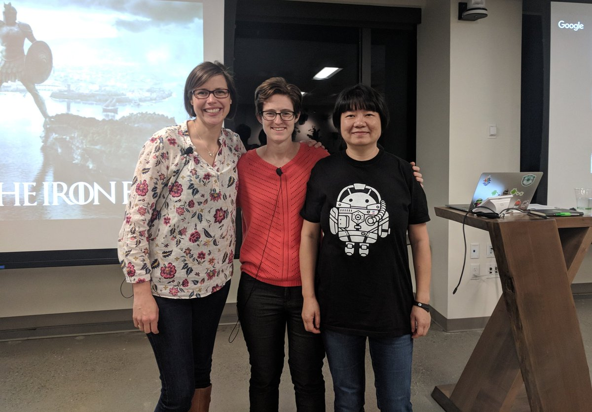 #RxJava and the Iron Bank, a talk by @AngellaMLD and @tensory at Seattle #Android meetup. #AndroidDev #womenintech<br>http://pic.twitter.com/7Pc4MRYPbV &ndash; à Dropbox Seattle