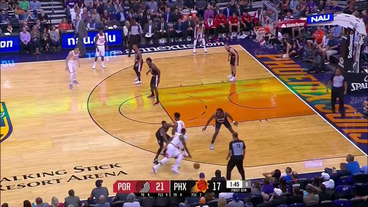 Swanigan with the steal AND the assist. Stream the action live at http...