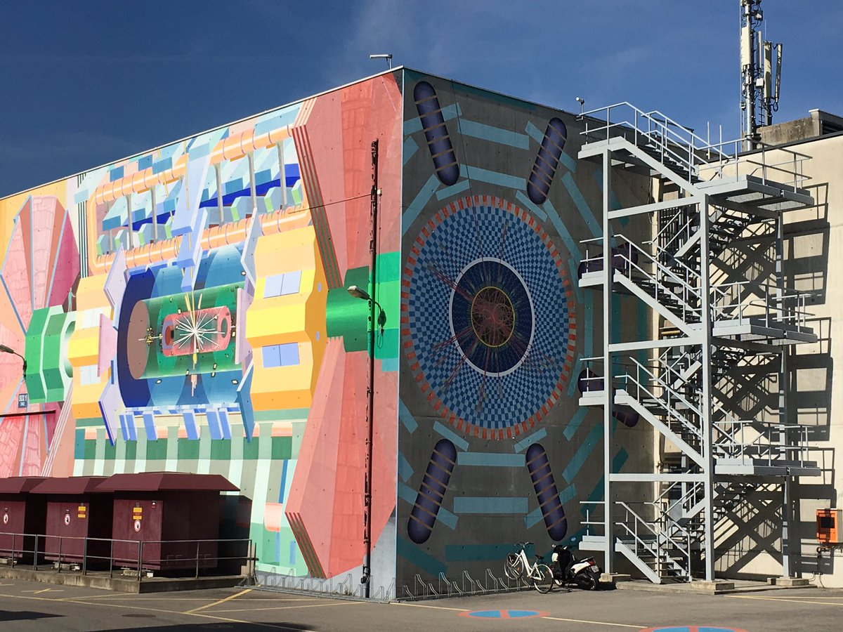 This building at CERN,Geneva, has beautiful murals of the particle collider inside.  #amwritingscifi #NerdHerd #art<br>http://pic.twitter.com/MKadD01xYO