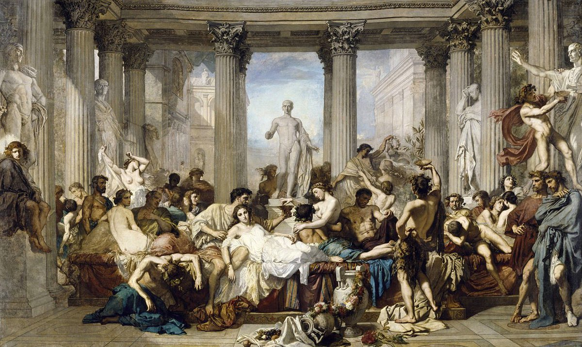 Romans In The Decadence Of The Empire,1847 by Thomas #Couture <br>http://pic.twitter.com/cRb94pZZGS