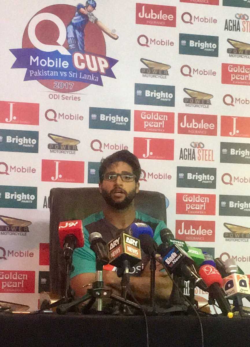 His inspiration are #YounisKhan &amp; @realshoaibmalik ,said #ImamulHaq during the PC at #PAKvsSL #3rd_ODI #Bright #debut @TheRealPCB #Cricket<br>http://pic.twitter.com/Y0GJrP34CP