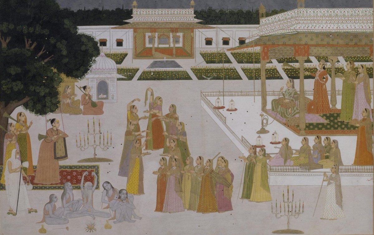 Princess and ladies celebrating #Divali in the presence of yogis &amp; yoginis, by Puran Nath (Hunhar II), #Lucknow~1760  http:// collections.vam.ac.uk/item/O405459/p ainting-purannath/ &nbsp; … <br>http://pic.twitter.com/DhCiHtEAi1