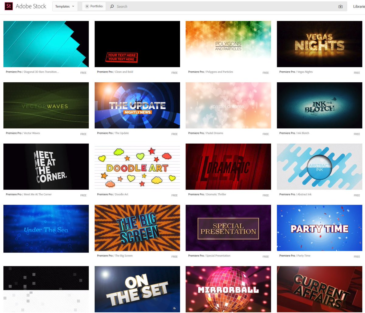 john dickinson on twitter premierepro i created 60 motion graphics templates recently which are now available for free on adobestock - Free Motion Graphics Templates