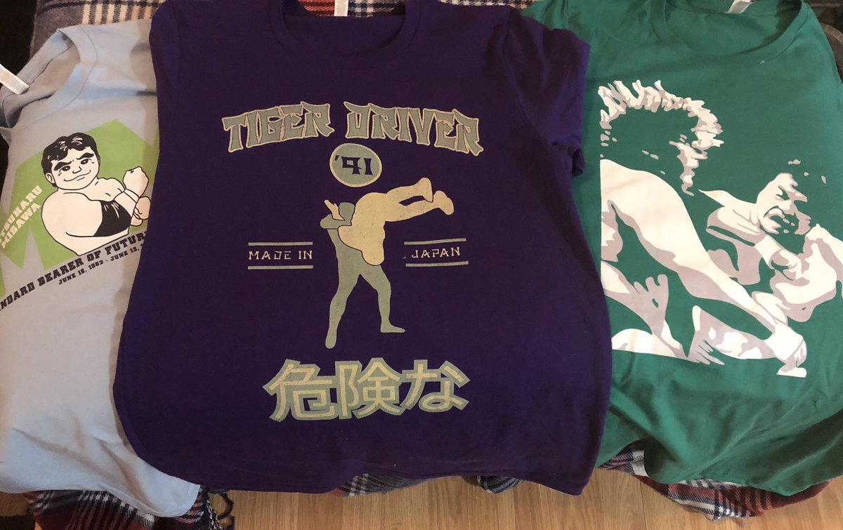So glad I got my shirts in from @redbubble today! They even came a day early! #RedBubble #noah_ghc #Misawa #Puroresu #MitsuharuMisawa<br>http://pic.twitter.com/NqM0lvIsh2