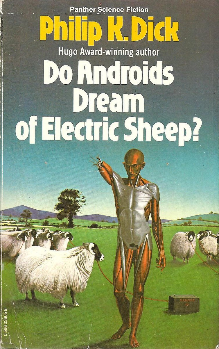 1977 edition of &quot;Do Androids Dream of Electric Sheep?&quot; by Philip K. Dick with cover art by Peter Goodfellow. #scifi #bladerunner <br>http://pic.twitter.com/jfaN6CSYG9
