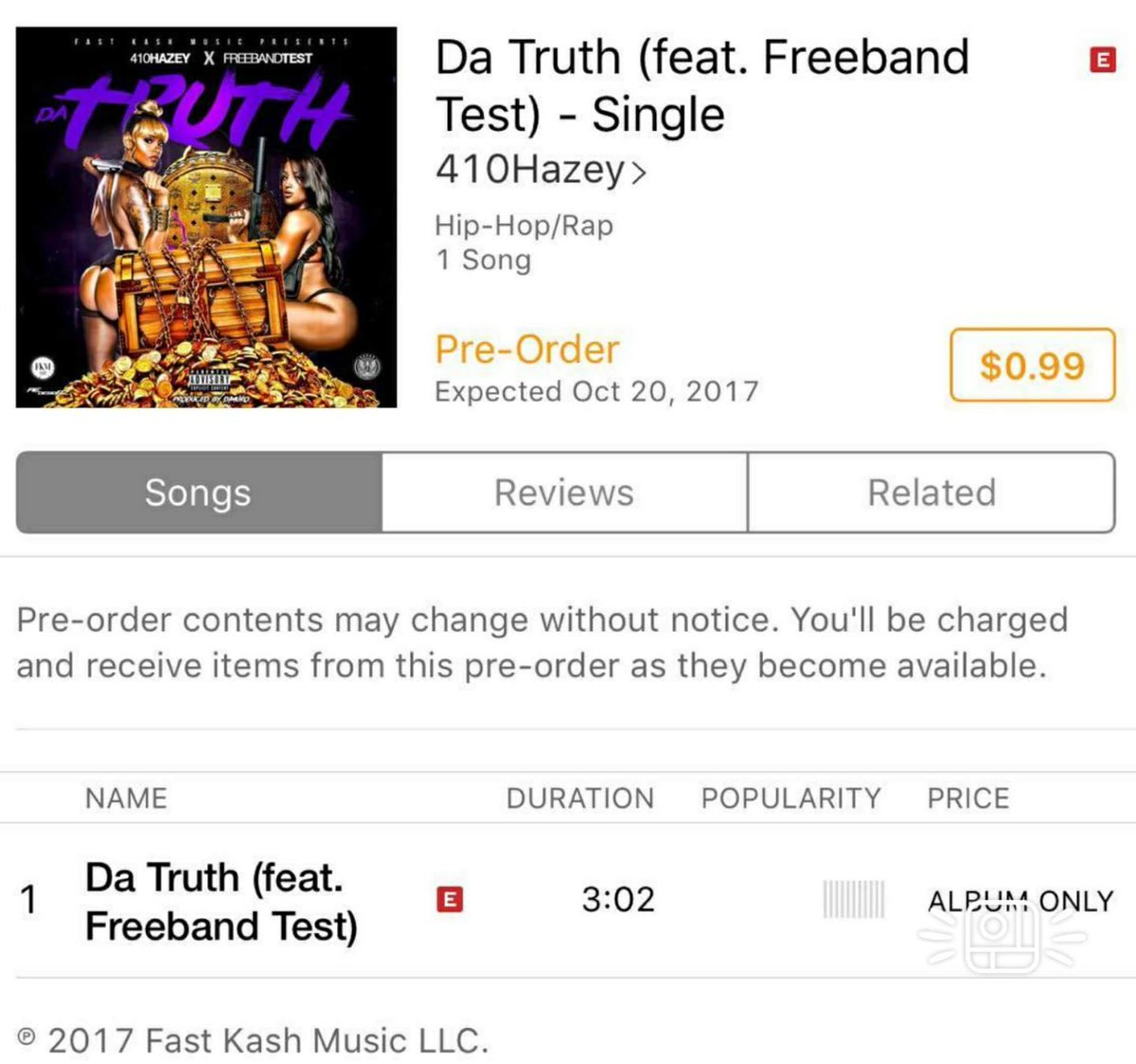 Go pre order. Da Truth by @410Hazey featuring @Test410_ is . You won&#39;t regret it my friends. #fkm #music #hiphop #rap #truth #NewMusic<br>http://pic.twitter.com/IwxFgPLSrS