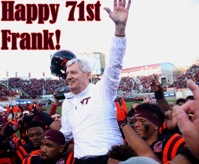 To wish Frank Beamer a Happy 71st Birthday!!!