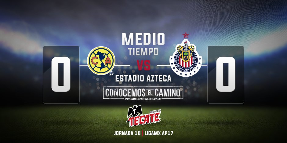Nos vamos al descanso, ¡venga Chivas! 💪🇦🇹 https://t.co/may5rC0eKf