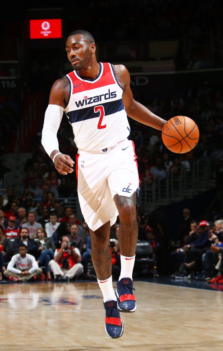 John Wall makes his season debut in the Nike PG 1 vs. Philadelphia htt...