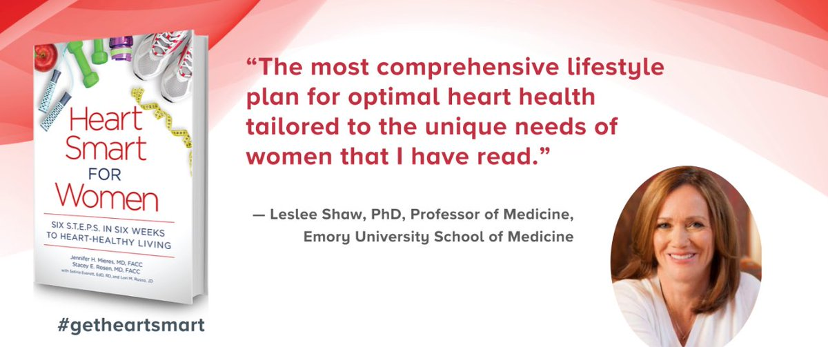 Thank you Leslee Shaw for reminding us that #hearthealth requires a lifestyle plan unique for women #womenshealth #getheartsmart <br>http://pic.twitter.com/ocCbsIsKDp