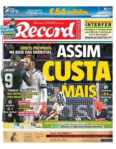 A capa de @Record_Portugal desta quinta-feira https://t.co/HJ1WU9NU7w