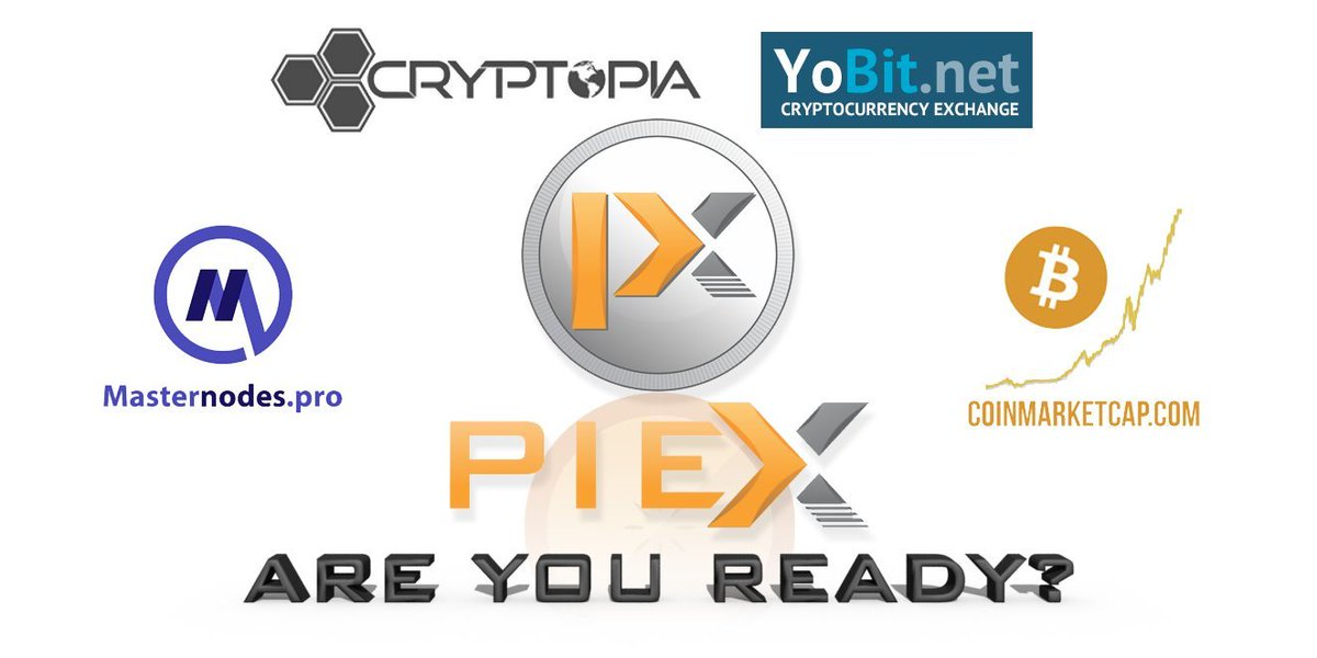 $PIEX is LIVE on @CryptoCurrEncyX during the swap! Ends Oct. 29th! &lt;3   http:// bit.ly/C-CEX_Exchange  &nbsp;   #RT #Masternode #Cryptocurrency #Cryptonews<br>http://pic.twitter.com/9YkBSnV2XL