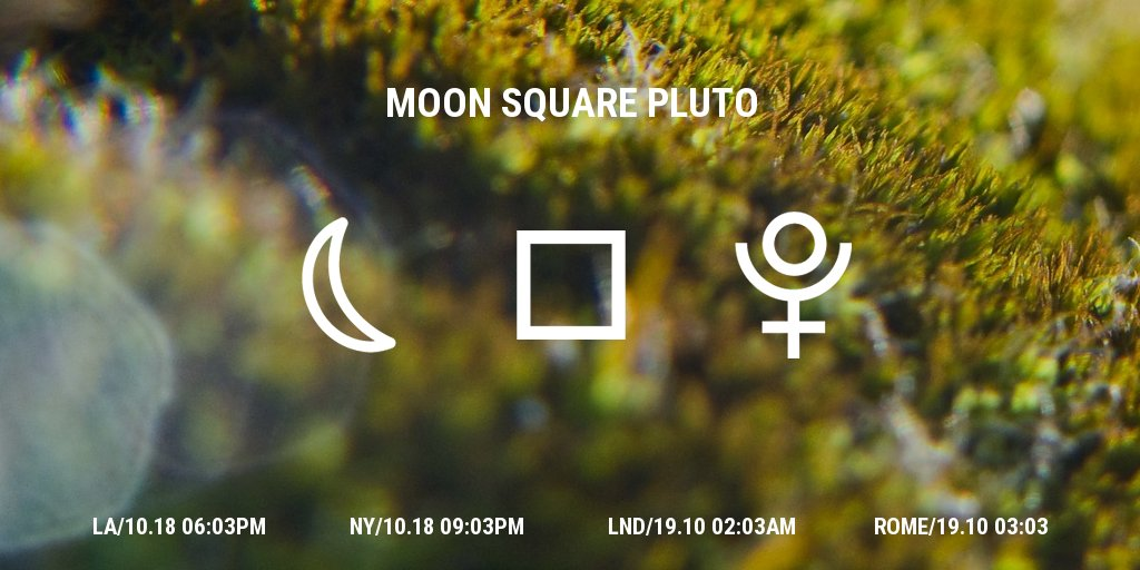 Moon square Pluto #astrology #livetransit<br>http://pic.twitter.com/AxnjOs9P2c
