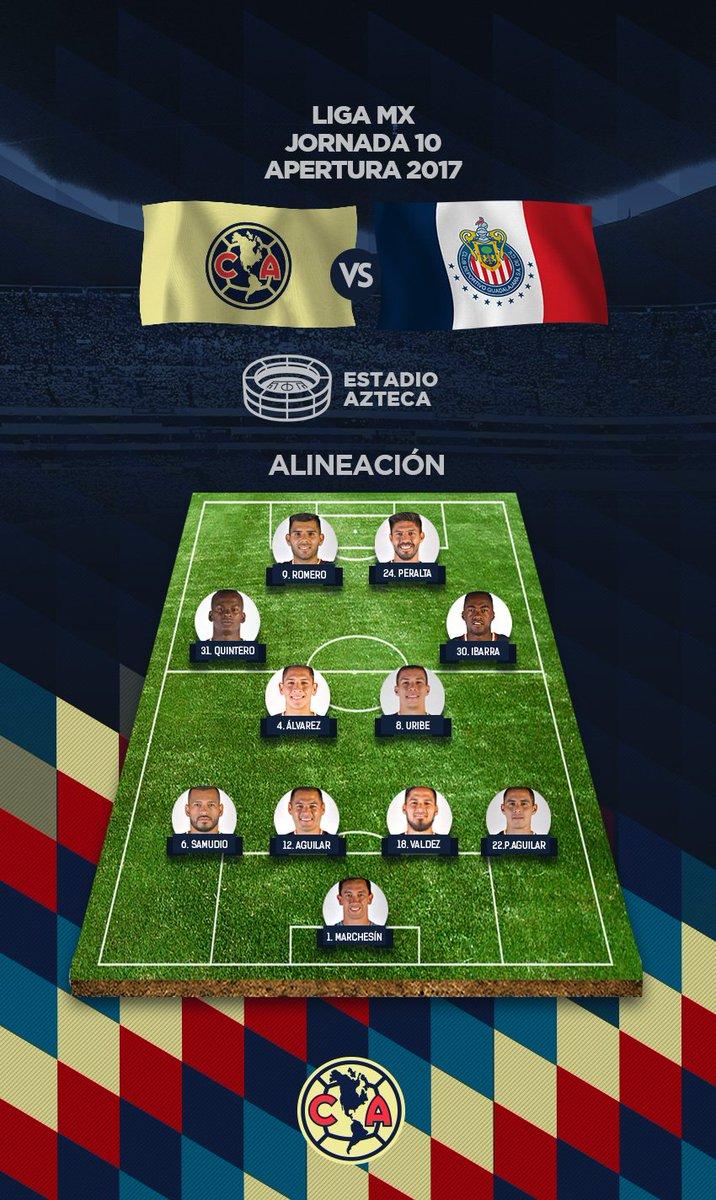📋Nuestro XI para enfrentar a Guadalajara:  #VamosAmérica 🦅 https://t...