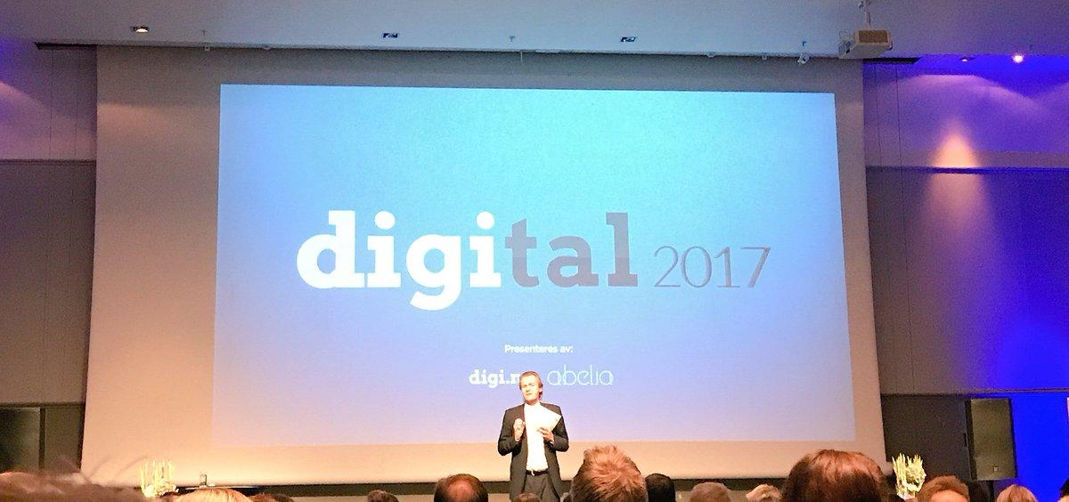 Vi er klare for #digital2017. Vår egen Hannah Cook tar scenen litt senere i dag. #digitalisering https://t.co/dwWv5rBoLV