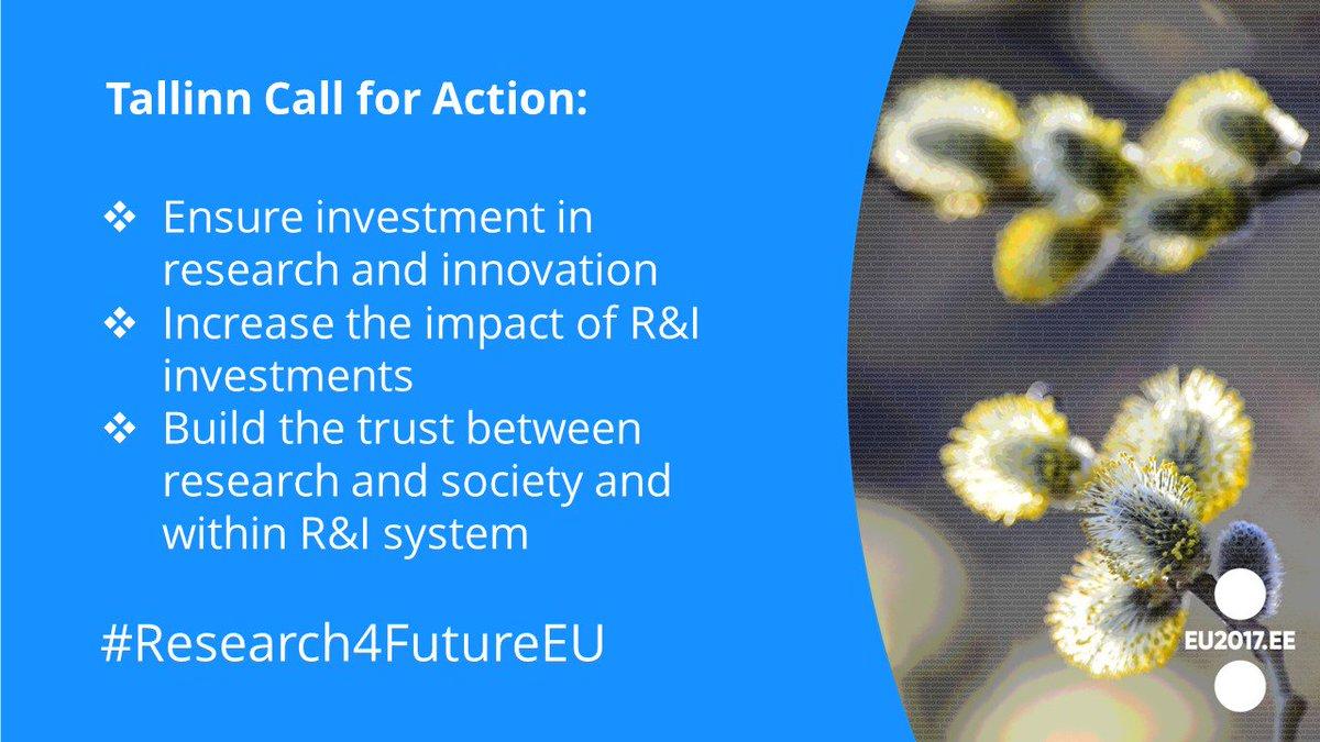 Read the final version of the Tallinn Call for Action here:  http:// bit.ly/2ijYUlB  &nbsp;   #EU2017EE #Research4FutureEU<br>http://pic.twitter.com/ko60xgz2Eq