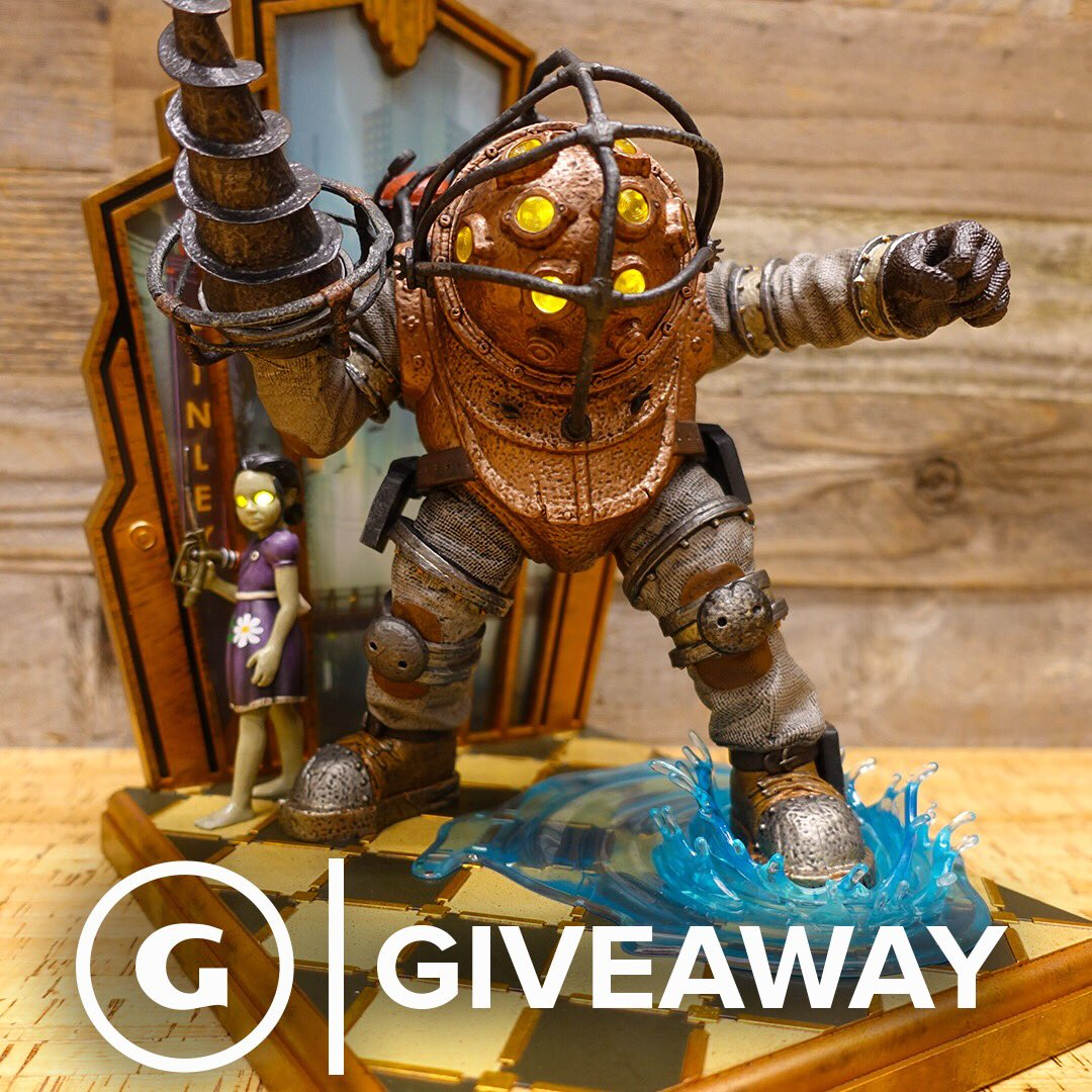 #Giveaway: We're giving away this @bioshock 10th Anniversary Collector's Edition statue!   Enter here: https://t.co/4UUIEAURMp