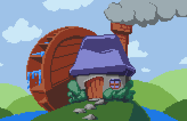 My little #cottage by a stream. For @Pixel_Dailies #pixel_dailies <br>http://pic.twitter.com/tcAIf34S4I