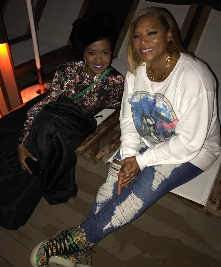 Spotted: Lauryn Hill + Queen Latifah 👑