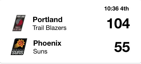 Checks in on the Blazers and Suns. 😳 https://t.co/aQcZQaxCaj