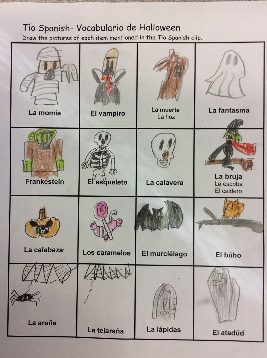 Maestros..my 3rd grade students loved learning via this Halloween @tiospanish video.  https://www. youtube.com/watch?v=Nksh3i vHOJg &nbsp; …  #earlylang #langchat #fles #CI <br>http://pic.twitter.com/E32PRwRN4T