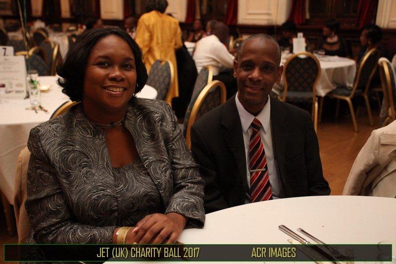 Mrs Tracey Blackwood, (JHC, UK) Minister Counsellor-Diaspora Affairs &amp; Mr David Blackwood (husband) at #JET-UK Gala. <br>http://pic.twitter.com/x1BpkDiSea