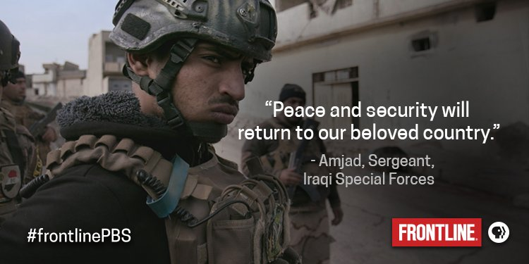 Amjad is a young Iraqi special forces soldier, whose wife is pregnant. #frontlinePBS