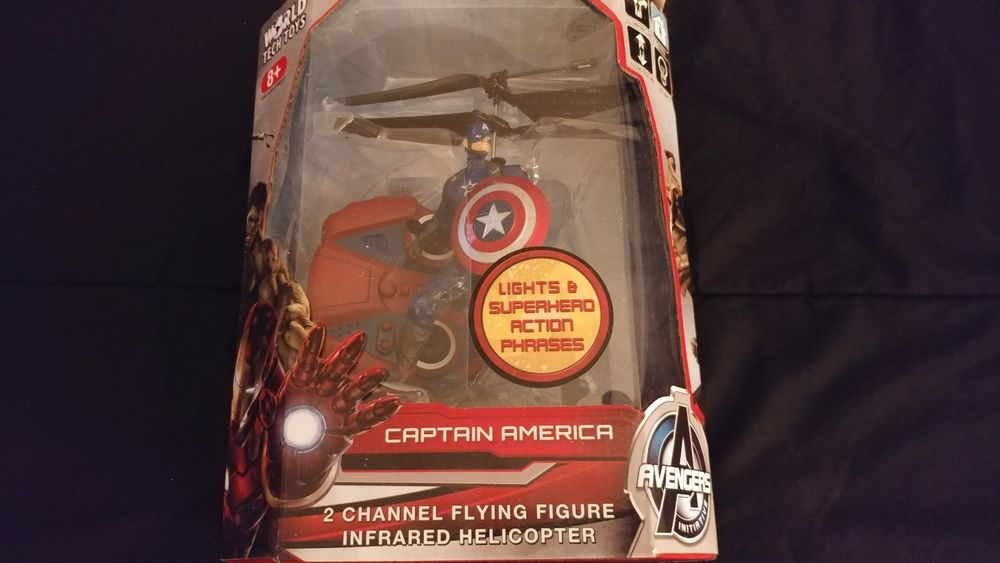 Avengers Captain America 2 Channel Flying Figure Infrared Helicopter h...