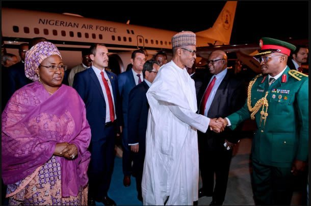 Buhari arrives Turkey on statevisit https://t.co/CMkRXUxjMb https://t...