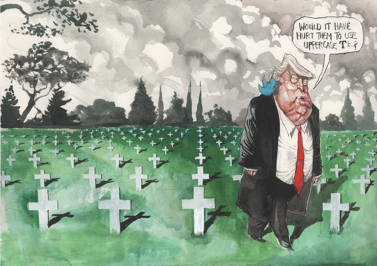'Would it hurt them to use uppercase T's?' @roweafr's latest cartoon. For more: https://t.co/k6n0SdgCe7  #Trump https://t.co/Hy0Ki5pUGm